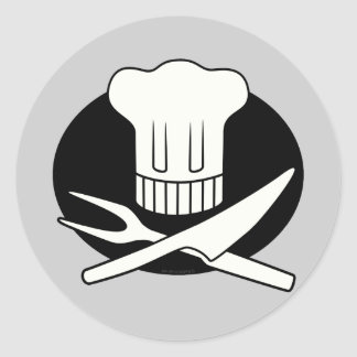 Pirate Chef Classic Round Sticker