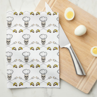 Pirate Chef Crossed Marshmallow Forks Towel