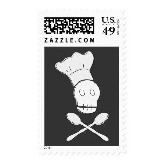 Pirate Chef Postage Stamp