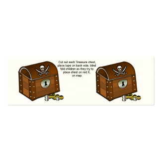 Pirate Chest Game Pieces Double-Sided Mini Business Cards (Pack Of 20)