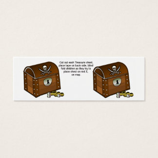 Pirate Chest Game Pieces Mini Business Card