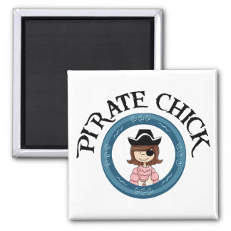 Pirate Chick Refrigerator Magnets