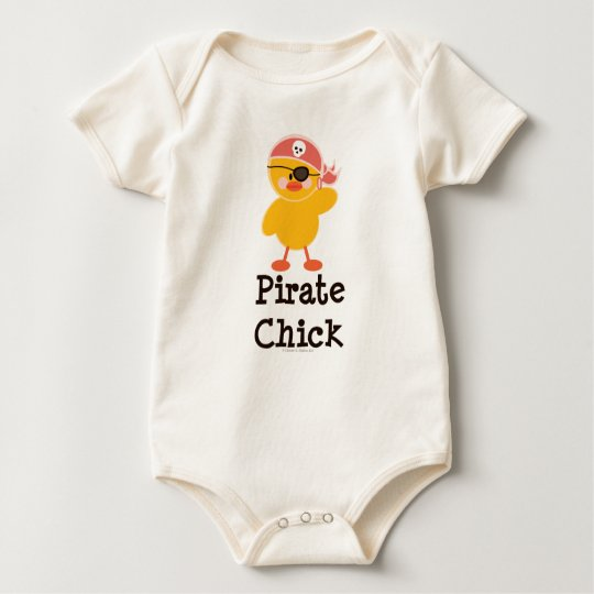Pirate Chick Organic Baby Bodysuit