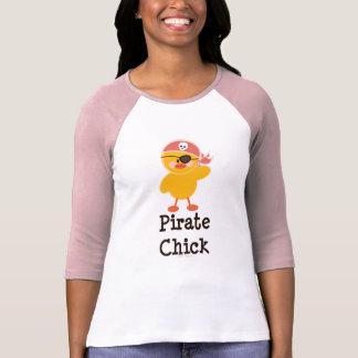 Pirate Chick Raglan T shirt