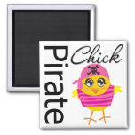 Pirate Chick Refrigerator Magnet