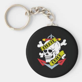 Pirate Chick Skull Key Chain