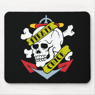 Pirate Chick Skull Mouse Pad