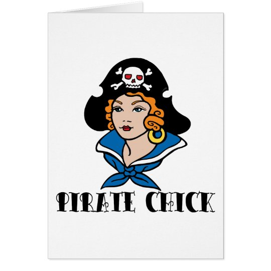 Pirate Chick Tattoo Card
