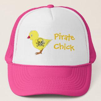 Pirate Chick Trucker Hat