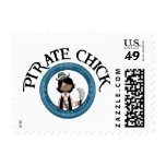 Pirate Chick With Sword Postage