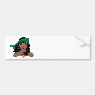Pirate Chicks ROCK! Bumper Sticker