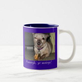 Pirate Chihuahua Two-Tone Coffee Mug