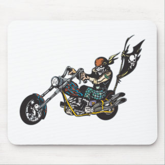 Pirate Chopper Skull Crossbones Flag Mouse Pad