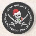 Pirate Christmas coaster