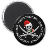 Pirate Christmas magnet