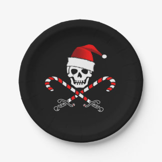Pirate Christmas Party Paper Plate 7 Inch Paper Plate