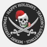 Pirate Christmas stickers