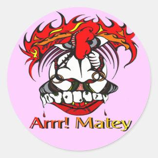 Pirate Classic Round Sticker