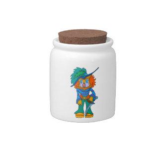 Pirate Clown Candy Jars