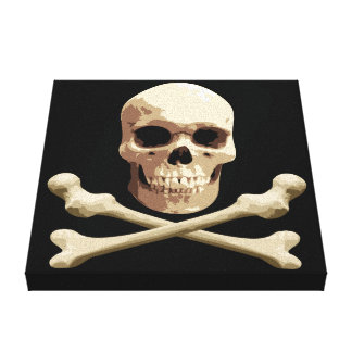 Pirate Club - Skull and Crossbones Canvas Print