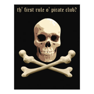 Pirate Club - Skull and Crossbones Flyer