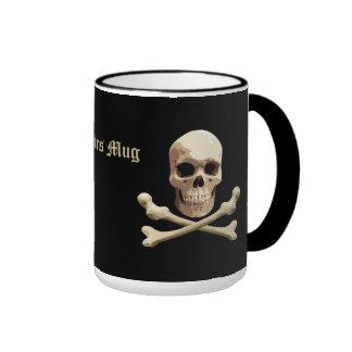 Pirate Club - Skull and Crossbones Ringer Mug