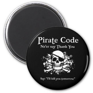 Pirate Code: Thank You 2 Inch Round Magnet