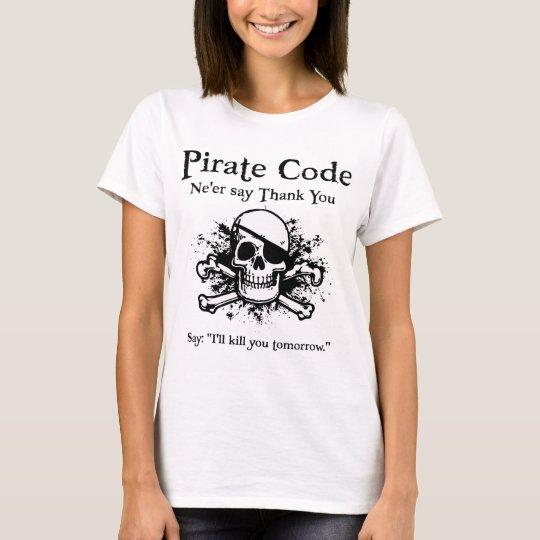 Pirate Code: Thank You T-Shirt