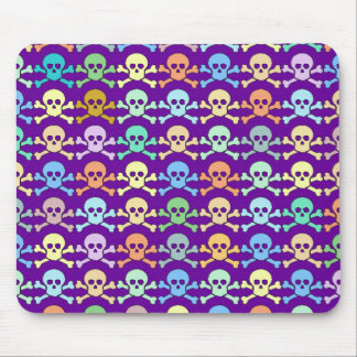 pirate color skulls mouse pad