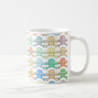 pirate colored skulls coffee mug