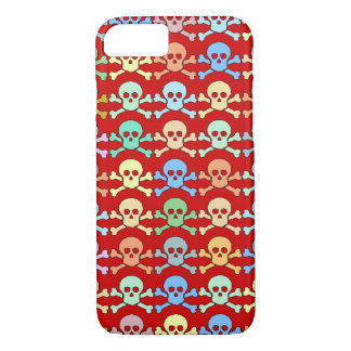 pirate colored skulls iPhone 8/7 case