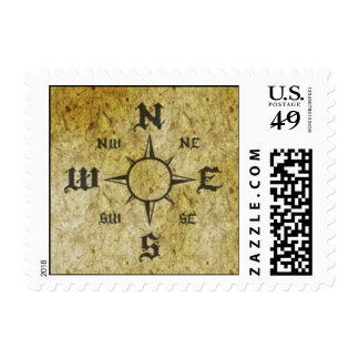Pirate Compass Postage Stamps
