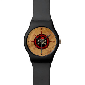 Pirate Compass Rose And Map Watches