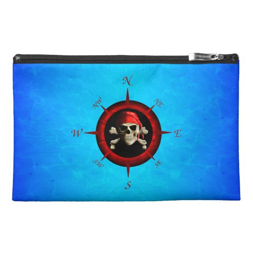 Pirate Compass Rose Travel Accessory Bags