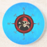 Pirate Compass Rose Beverage Coasters