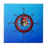 Pirate Compass Rose Ceramic Tiles