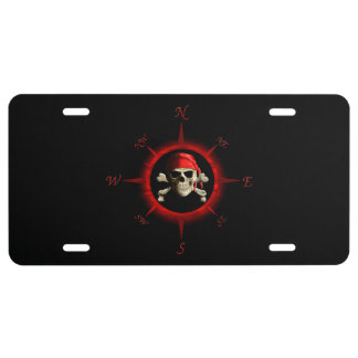 Pirate Compass Rose License Plate