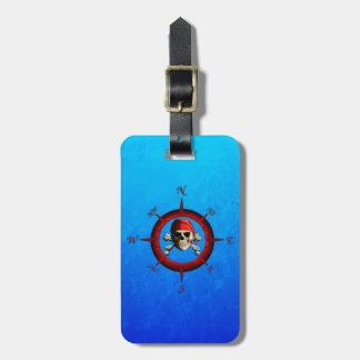 Pirate Compass Rose Bag Tags