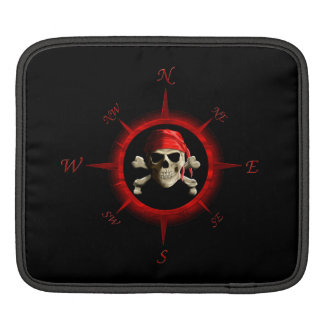 Pirate Compass Rose Sleeve For iPads