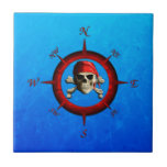 Pirate Compass Rose Small Square Tile