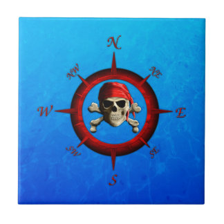 Pirate Compass Rose Tile