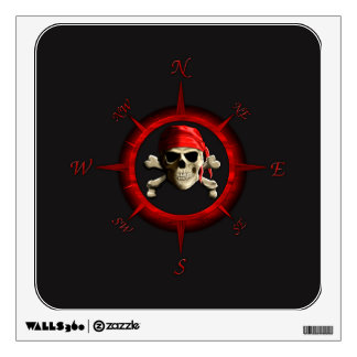 Pirate Compass Rose Wall Decal