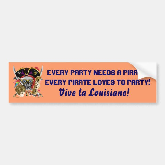 Pirate Contraband Days 30 Colors Bumper Sticker