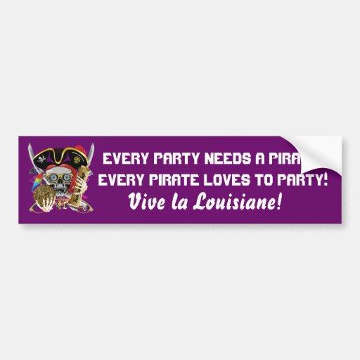 Pirate Contraband Days 30 Colors Car Bumper Sticker