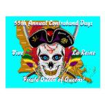 Pirate Contraband Days 30 Colors Postcard
