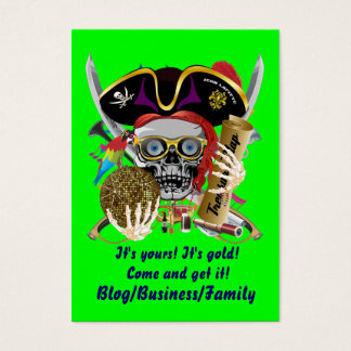 Pirate Contraband-Days Important View About Design Business Card