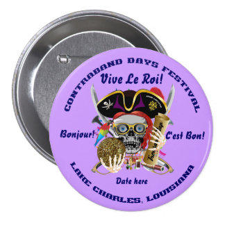 Pirate Contraband Days Round Only Pinback Button