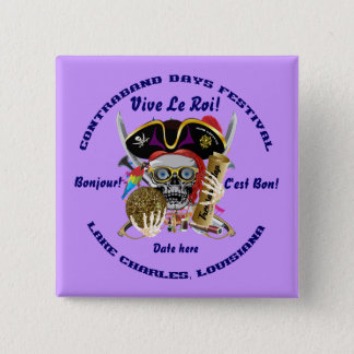 Pirate Contraband Days Square Only Button
