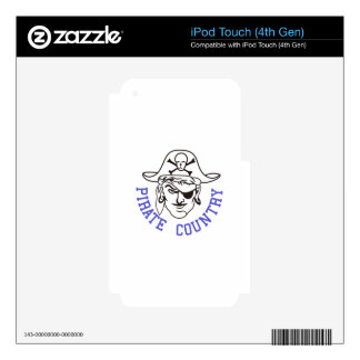 Pirate Country iPod Touch 4G Skin