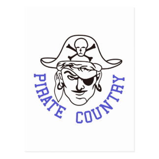 Pirate Country Postcard